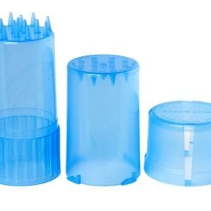 Medtainer-Storage-Container-w/-Built-In-Grinder-Blue
