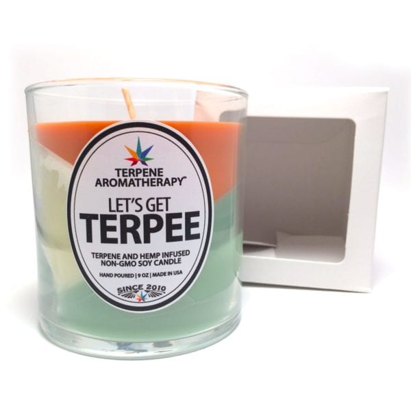 Terpee Candles Tri Color Green Crack