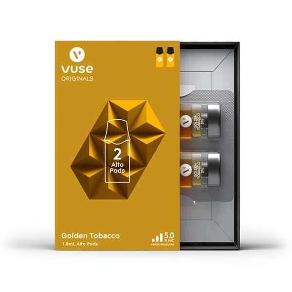 vuse alto golden tobacco 5 2 pack